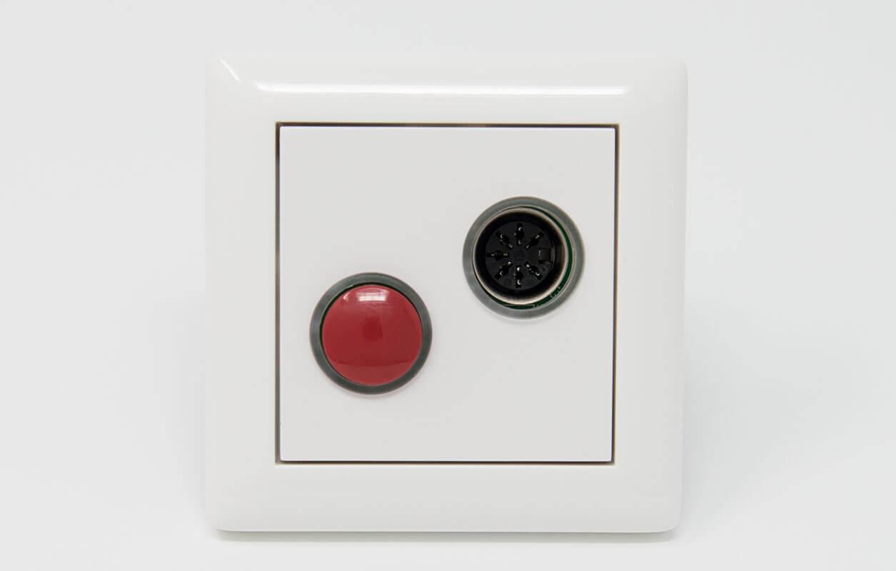 Lichtrufanlage Ruftaster mit Nebensteckkontakt